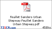 Feuillet Sandero Urban Stepway