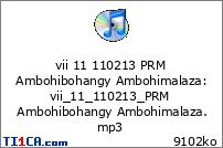 vii 11 110213 PRM Ambohibohangy Ambohimalaza