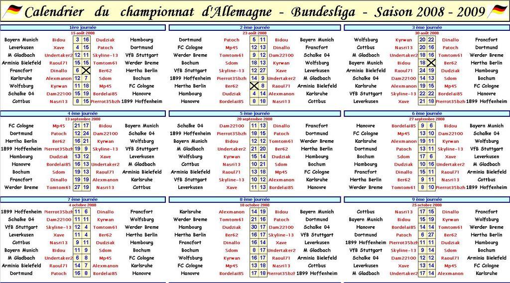 Calendrier Bundesliga 2.Bundesliga Calendrier Bundesliga Calendrier Jpg Ti1ca Com