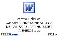 contre Linky et Gaspard : LINKY SOMMATION A NE PAS FAIRE, PAR HUISSIER A ENEDIS.doc