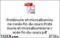 Ronéo 18 Suite Protéinurie et microalbuminurie Gonzalo M6f9xwtn