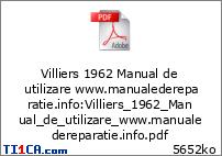 Villiers 1962 Manual de utilizare www.manualedereparatie.info