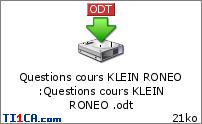 Ronéo 15 Rappels d'histologie - KLEIN - 22/02 U4m181hn