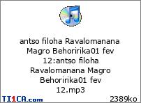 antso filoha Ravalomanana Magro Behoririka01 fev 12