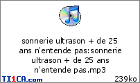 sonnerie ultrason