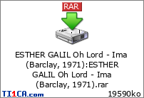 Esther Galil - Oh Lord - Ima (Barclay, 1971)