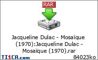 Jacqueline Dulac - Mosaïque (1970)